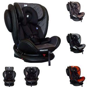 Kikkaboo Kindersitz Stark Gruppe 0+/1/2/3 (0 - 36 kg) Isofix, SPS, 360° drehbar dunkelgrau