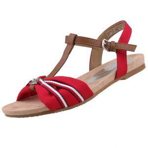 TOM TAILOR Damen Sandalen Rot, Schuhgröße:EUR 41