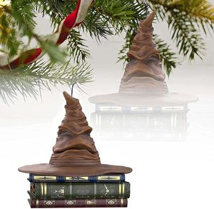 Weihnachtsschmuck Sprechender 3D Harry Potter Sortierhut, Magie Weihnachtsbäume Anhänger Andenken kreative Halloween Desktop-Dekoration Ornament