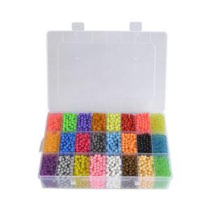 5200pcs Aqua Beads Glitzer Basteln Kinder Bastelset Glitzerperlen Perlen Gift Aquabeads Glitzer Set DIY