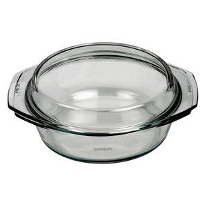 SIMAX 021/001/005 Schüssel mit Deckel, rund, Borosilikatglas, 2,5 Liter ø 24,9 cm, klar (1 Stück)