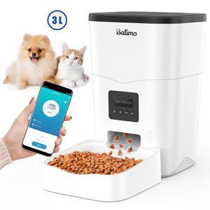 3L WIFI elektronischer Futterautomat Futterspender automatischer Futternapf für Katzen Hunde Programmierbar 4 Mahlzeiten pro Tag Netzteil / Batterie