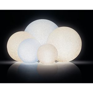 3er LED Leuchtkugel Dekokugel 4 Funktionen Acryl warm / kalt - weiß Ø12/14/18cm