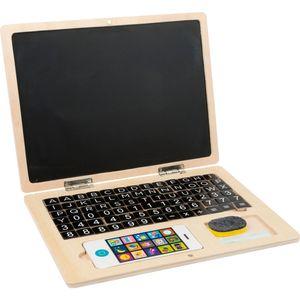Small Foot 11193 Holz-Laptop mit Magnet-Tafel, 83-teilig (1 Set)