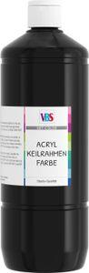 VBS Acryl-Keilrahmen Farbe, 1000 ml Schwarz