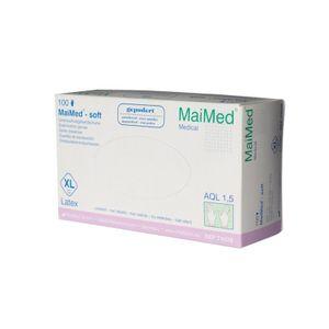 MaiMed soft PF Latex Handschuhe puderfrei 100 Stk. Gr. XL