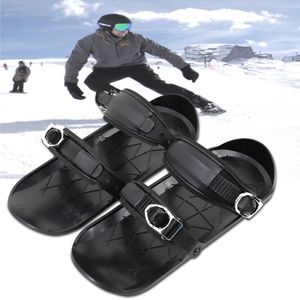 Mini Ski Skates Schnee Short Skiboard Snowblades Bindungen Snowfeet Skischuhe SWF201207066