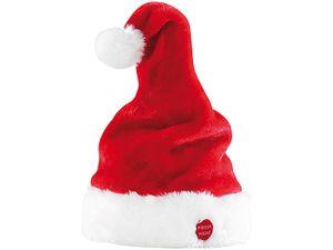Tanzende Weihnachtsmütze mit Sound, singende Nikolausmütze die wackelt, rockende Mütze Weihnachten
