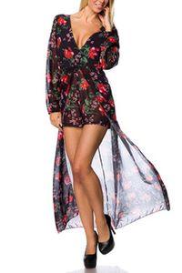 Atixo Body-Kleid - schwarz/rot, Größe:2XL