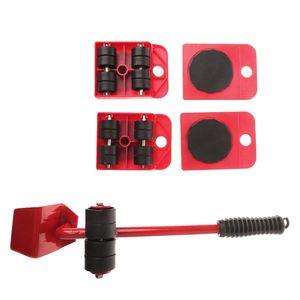 1 Satz 5PCS Heavy Things Moving Tool Heavy Furniture Shifter Haushaltswerkzeug für schwere M?bel Moving Tool für den Heimgebrauch (rot)