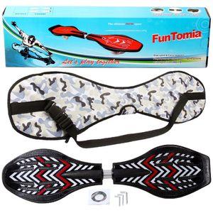 FunTomia® mit LED-Rollen - 2277 - Design schwarz rot - Waveboard ORIGINAL