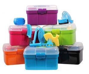 Putzbox für Kinder Putzkiste Putzzeug QHP ARBO-INOX® Farbe - grün