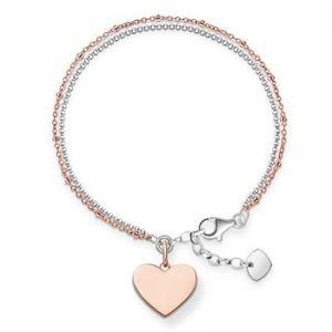 Thomas Sabo Love Bridge Armband LBA0102-415-12-L19,5v Sterling Silber 925/000 Rosègold vergoldet