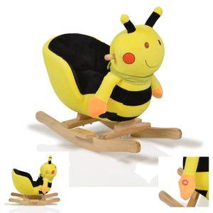 Plüsch Schaukeltier Biene WJ-635 Soundfunktion, Handgriffe aus Holz ab 12 Monate