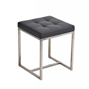 Sitzhocker Barci, Kunstleder  grau