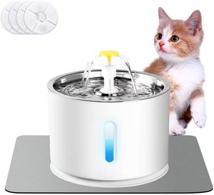 Katzen Trinkbrunnen, Katzenbrunnen Organischer Filter rutschfest Leise 2L