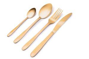 Alpina Besteck-Set -16 Teile - 4 Personen - Gold Matt