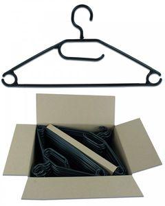 50 Stück Kunststoff Antirutsch Kleiderbügel Drehbare Haken Schwarz oder Weiss, Farbe:Schwarz