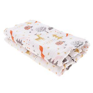Baby Baumwolle Gaze Wrap Handtuch Säugling Swaddle Decken Fuchs Kitz 彩色 大象 wie beschrieben