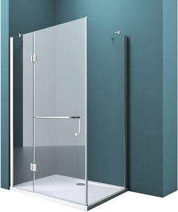 Mai & Mai Duschkabine R04k 90x120 cm, ESG-Sicherheitsglas mit Lotus-Effekt & schmutzabweisender Nano-Beschichtung, Echtglas-Dusche