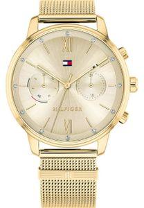 Tommy Hilfiger Damen Multi Zifferblatt Gold/Gold Edelstahl Armbanduhr   1782302