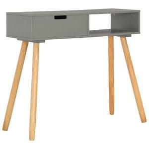 vidaXL Konsolentisch Grau 80x30x72 cm Kiefer Massivholz