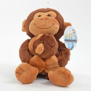 KÖGLER Plüsch Affe mit Baby Äffchen Kuscheltier Schmusetier 17 cm