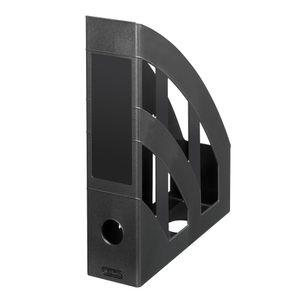 4 Herlitz Stehsammler / Plastik Stehordner / Farbe: schwarz