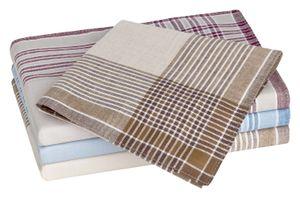 Tobeni 20 Herren Stoff Taschentücher aus 100% gekämmte Baumwolle 40 cm x 40 cm