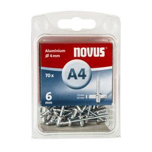 NOVUS Alu Blindniete A4 x 6 (70 Stk)