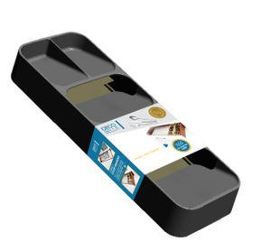 Küche Schublade Organizer 5 Fächer Grau Löffel Gabel Besteck Trennung Aufbewahrungsbox