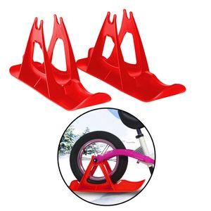 PE Ski Balance Fahrrad Schlitten Schlitten Winter Kind Kinder Spielzeug Schlitten Flache Bodenplatte Farbe rot