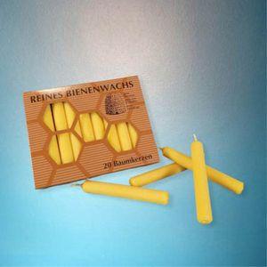 Baumkerzen 20er Pack ( Ø  13 mm  H 95 mm ) 100% Bienenwachs