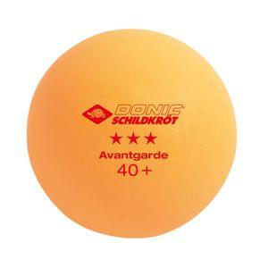 Donic-Schildkröt Tischtennisball 3-Stern Avantgarde, Poly 40+ Qualität, 6 Stk. im Blister, 3x weiß / 3x orange