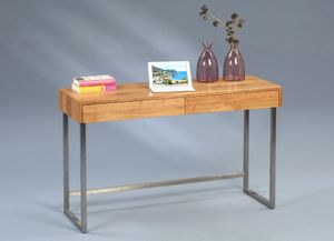Konsole/Schreibtisch Terri in braun - Holz massiv - 120 x 42 x 75 cm