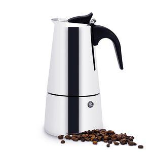 EDELSTAHL ESPRESSOKOCHER für 6 Tassen  Espresso Maker Espressokanne Kaffeekocher