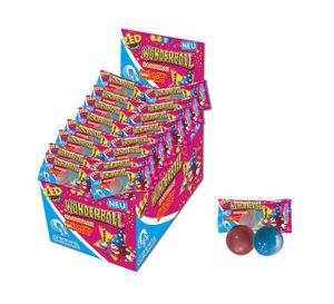 ZED Candy Wunderball Orginal Kaugummi - flüssig gefüllte Zungenfärber -  50 Stück