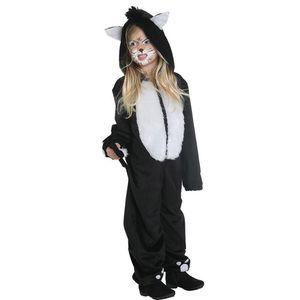 Kinder Kostüm Katze Katzenkostüm Overall Karneval Fasching Gr.116
