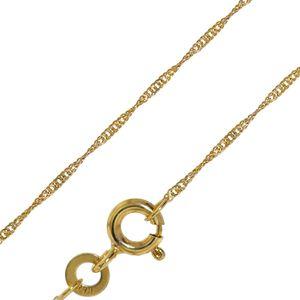 trendor 72450 Goldkette für Damen 333 Gold (8 Karat) Singapur-Muster 1,0 mm, 42 cm