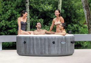 Intex 28440 Rund Aufblasbar Whirlpool Bubble Massage Pure Spa 196x71 cm