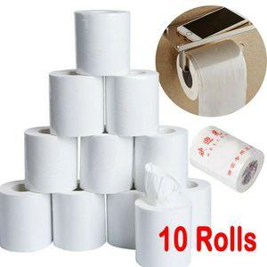 10 Rollen ToilettenpapierSuperweiches 3-lagiges Papierhandtuch-ToilettenpapierBadezimmergewebe 50g