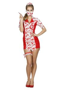 Damen Kostüm Zombie Krankenschwester Halloween Karneval Gr.38