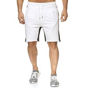 Männer Einfarbig Casual Shorts Sport Laufhosen,Farbe: Weiß,Größe:XXL