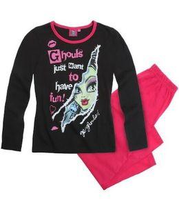 Monster High Schlafanzug Ghouls want Fun schwarz/pink Gr. 128