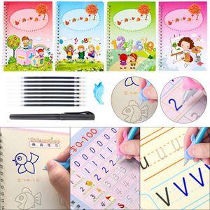 Magische Kalligraphie, die wiederverwendet werden kann Handschrift Copybook Set für Kinder Kalligraphisches Schreiben von Briefen@#H02