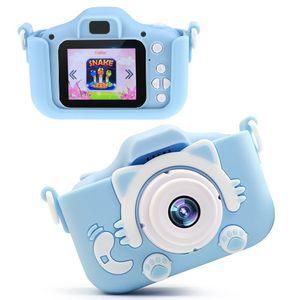 Geschenk für 4-6 Jahre Mädchen Jungs Lixada Kinder Kamera 2.0 Zoll HD 1080P Digitalkamera für Kinder Silikon Fotoapparat Kinderkamera Bestes Spielzeug ,Blau