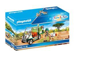 PLAYMOBIL Family Fun 70346 Zoo-Tierarzt mit Fahrzeug