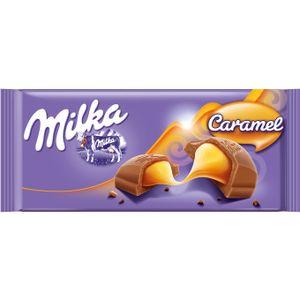 Milka Caramel Alpenmilch mit feiner Milchreme Caramel Füllung100g