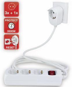REV Steckdosenleiste 3+1-fach 5m + Schalter weiß
