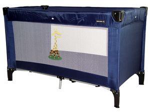 Reisebett Standard  mit Matratze, und Tragetasche, Größe 120x60, Dessin:Marine